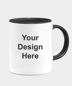 CUSTOMIZED BLACK DUAL TONE MUGS