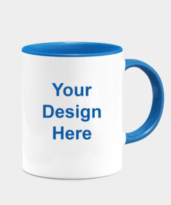 CUSTOMIZED DARK BLUE DUAL TONE MUGS