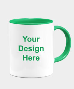 CUSTOMIZED GREEN DUAL TONE MUGS