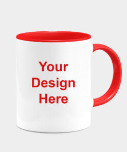CUSTOMIZED RED DUAL TONE MUGS