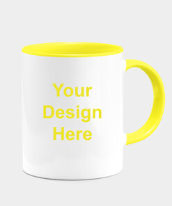 CUSTOMIZED YELLOW DUAL TONE MUGS